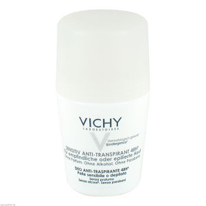 Vichy Deo Roll-On Sensitiv Anti-Trans. 48H